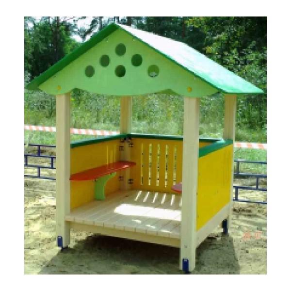 Домик для детской площадки в детском саду своими руками